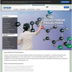 Ultra-Short-Throw Projectors - Epson