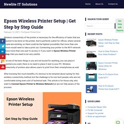 Epson Wireless Printer Setup