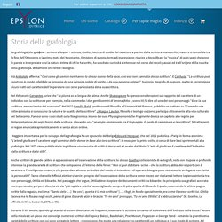 Epsylon Editrice - Storia della grafologia