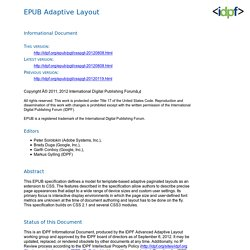 EPUB Adaptive Layout