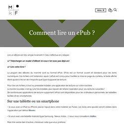 Comment lire un ePub ? - Éditions MkF