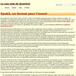 Epub3, un format pour l'avenir - Le coin web de QuentinC