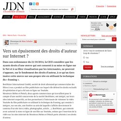 Vers un épuisement des droits d'auteur sur Internet?