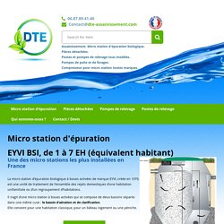 Micro station d'épuration