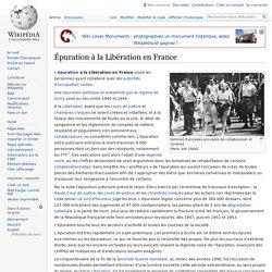 Épuration à la Libération en France