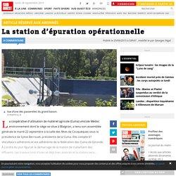 La station d'épuration opérationnelle
