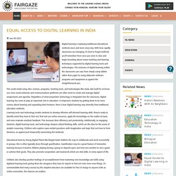 Equal Access to Digital Learning in India