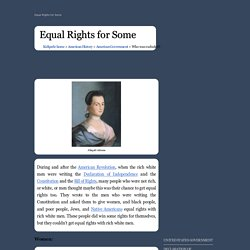 Equal Rights for Some - American History for Kids!