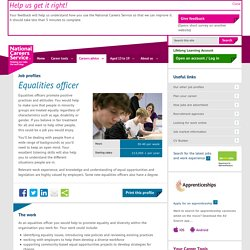 Equalities officer Job Information