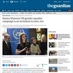 Emma Watson's UN gender equality campaign invites men too