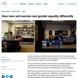 How men and women see gender equality differently