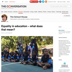 The Conversation - Education Equity
