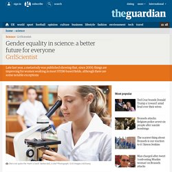 Gender equality in science: it takes a village
