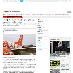Why ∏A = gUG + min(k-g, (1-g)(1-r)) equals low airline fares | World news | The Observer