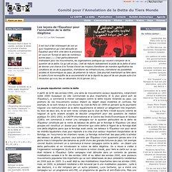 Les leçons de l'Équateur pour l'annulation de la dette illégitime