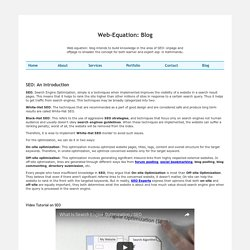 SEO- Web-Equation: Blog