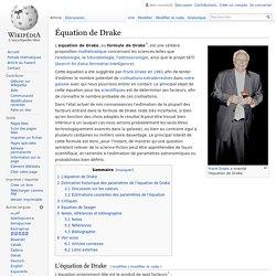 Équation de Drake