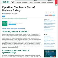 Equation: The Death Star of Malware Galaxy