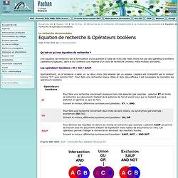 Equation de recherche & Opérateurs booléens - Collège Vauban à Briançon