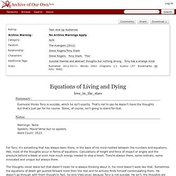 Equations of Living and Dying