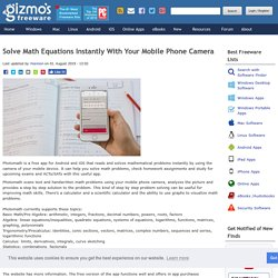Solve Math Equations Instantly With Your Mobile Phone Camera