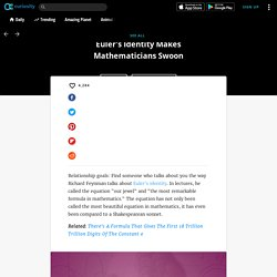 Are Math Equations Beautiful? Euler's Identity Makes Mathematicians Swoon