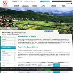 Equestrian activities - Tourism Alsace