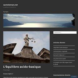 L'équilibre acido-basique – santeleman.net
