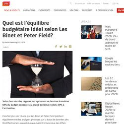 Quel est l'équilibre budgétaire idéal selon Les Binet et Peter Field? - UBA Belgium