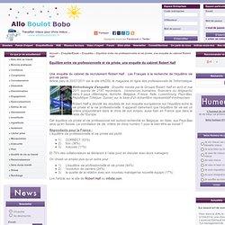 Equilibre entre vie professionnelle et vie privée, une enquête du cabinet Robert Half