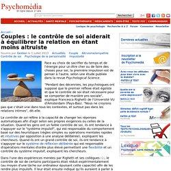 Couples : le contrôle de soi aiderait à équilibrer la relation en étant moins altruiste