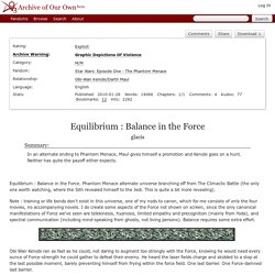 Equilibrium : Balance in the Force - glacis