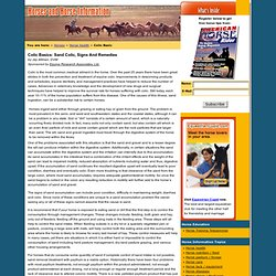 Equine Colic Basics: What are signs, symtoms and remedies for horses