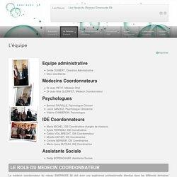 L'équipe du Réseau Emeraude 58, Réseau de santé départemental de la Nièvre
