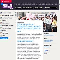 L'équipe web de François Bayrou tente la carte de la gamification