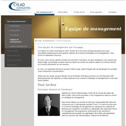 Équipe de management | Cylad Consulting