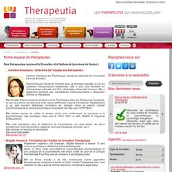 Notre équipe de thérapeutes certifiés