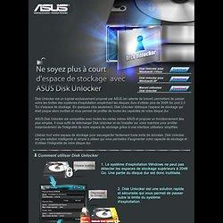 Cartes mères ASUS équipée de la Technologie Disk Unlocker