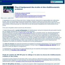 Plan d'équipement et de mise en réseau des écoles et des établissements scolaires français