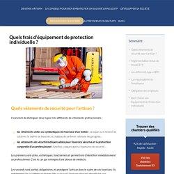 Frais Equipement de Protection Individuelle : focus BTP