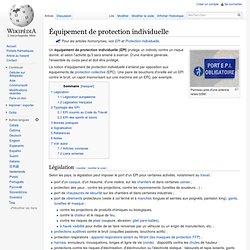 EPI Équipement de protection individuelle