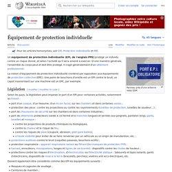 definition epi Équipement de protection individuelle