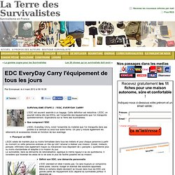 EDC EveryDay Carry l'équipement de tous les jours