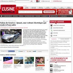 Salon de Genève : Quant, une voiture électrique qui roule à l'eau salée - Equipements électriques