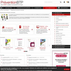 Équipements de protection individuelle Prévention BTP