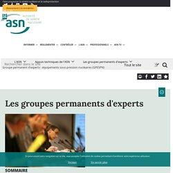 Groupe permanent d'experts - équipements sous pression nucléaires (GPESPN)
