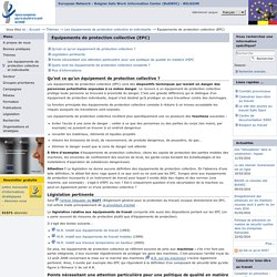 Équipements de protection collective (EPC)