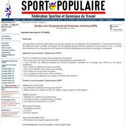 Gestion des Equipements de Protection Individuel (EPI) - Les sports de nature