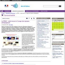 Le PEAC : vade-mecum à l'usage des équipes pédagogiques - Arts & Culture