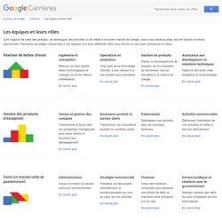 Les équipes et leurs rôles - Google Carrières